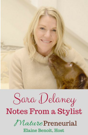 Sara Delaney | Notes From a Stylist Pinterest pin image for Maturepreneurial.com
