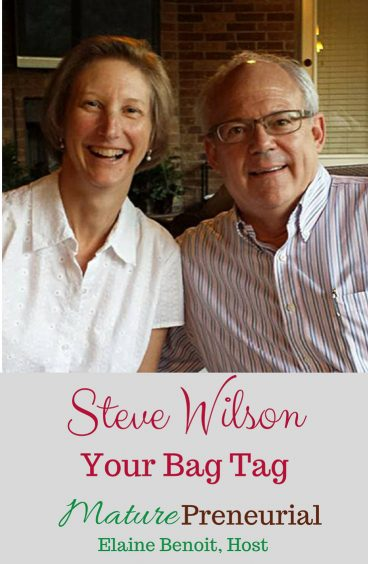 Steve & Rebecca Wilson | Your Bag Tag Pinterest pin image for Maturepreneurial.com